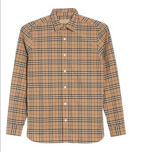 Authentic Burberry man buttons up shirt
